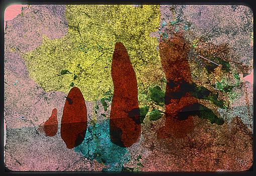 Cliché Verre No. 196: Red Liths
