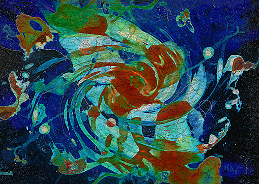 Cliché Verre No. 204-C: The Goldfish Pond