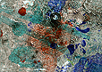 Cliché Verre No. 213: Planetary Billiards