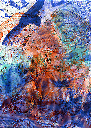 Cliché Verre No. 214: Phoenix Soaring